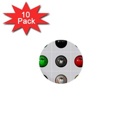 9 Power Buttons 1  Mini Buttons (10 Pack)  by Simbadda