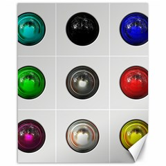 9 Power Buttons Canvas 16  X 20   by Simbadda