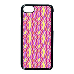 Pink Yelllow Line Light Purple Vertical Apple Iphone 7 Seamless Case (black) by Alisyart