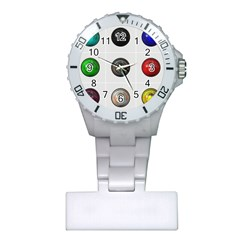 9 Power Buttons Plastic Nurses Watch by Simbadda