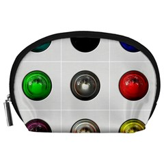 9 Power Buttons Accessory Pouches (large)  by Simbadda