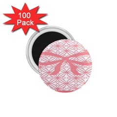 Pink Plaid Circle 1 75  Magnets (100 Pack)  by Alisyart
