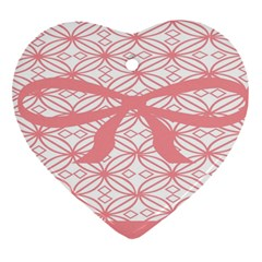 Pink Plaid Circle Heart Ornament (two Sides) by Alisyart