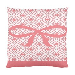 Pink Plaid Circle Standard Cushion Case (two Sides)