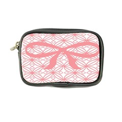 Pink Plaid Circle Coin Purse by Alisyart