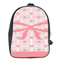 Pink Plaid Circle School Bags(large)