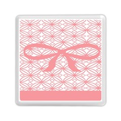 Pink Plaid Circle Memory Card Reader (square)