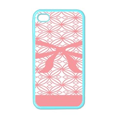 Pink Plaid Circle Apple Iphone 4 Case (color) by Alisyart