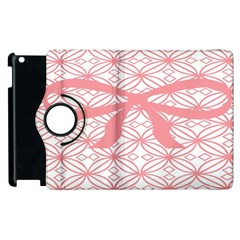 Pink Plaid Circle Apple Ipad 3/4 Flip 360 Case by Alisyart
