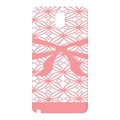 Pink Plaid Circle Samsung Galaxy Note 3 N9005 Hardshell Back Case by Alisyart