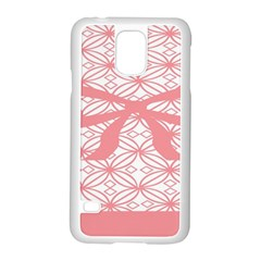 Pink Plaid Circle Samsung Galaxy S5 Case (white) by Alisyart