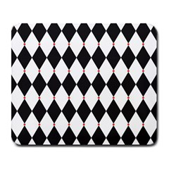 Plaid Triangle Line Wave Chevron Black White Red Beauty Argyle Large Mousepads by Alisyart