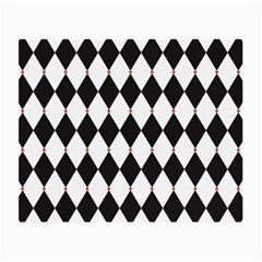 Plaid Triangle Line Wave Chevron Black White Red Beauty Argyle Small Glasses Cloth by Alisyart