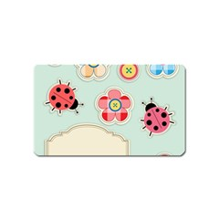 Buttons & Ladybugs Cute Magnet (name Card) by Simbadda