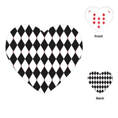 Plaid Triangle Line Wave Chevron Black White Red Beauty Argyle Playing Cards (heart)  by Alisyart