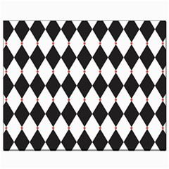 Plaid Triangle Line Wave Chevron Black White Red Beauty Argyle Canvas 8  X 10  by Alisyart
