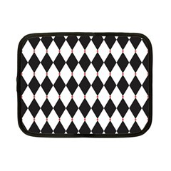 Plaid Triangle Line Wave Chevron Black White Red Beauty Argyle Netbook Case (small)