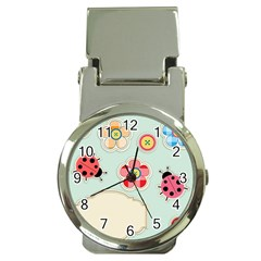 Buttons & Ladybugs Cute Money Clip Watches by Simbadda