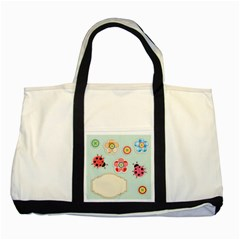 Buttons & Ladybugs Cute Two Tone Tote Bag by Simbadda