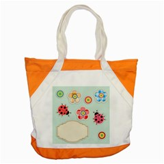 Buttons & Ladybugs Cute Accent Tote Bag by Simbadda