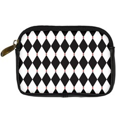 Plaid Triangle Line Wave Chevron Black White Red Beauty Argyle Digital Camera Cases by Alisyart