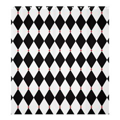 Plaid Triangle Line Wave Chevron Black White Red Beauty Argyle Shower Curtain 66  X 72  (large)  by Alisyart