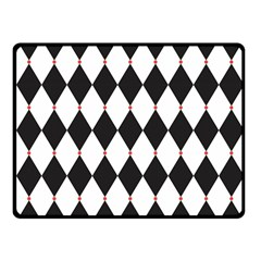 Plaid Triangle Line Wave Chevron Black White Red Beauty Argyle Fleece Blanket (small) by Alisyart