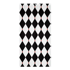 Plaid Triangle Line Wave Chevron Black White Red Beauty Argyle Shower Curtain 36  X 72  (stall)  by Alisyart