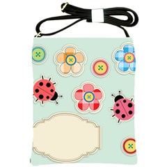 Buttons & Ladybugs Cute Shoulder Sling Bags by Simbadda