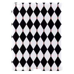 Plaid Triangle Line Wave Chevron Black White Red Beauty Argyle Apple Ipad 3/4 Hardshell Case (compatible With Smart Cover)