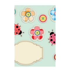 Buttons & Ladybugs Cute Shower Curtain 48  X 72  (small)  by Simbadda