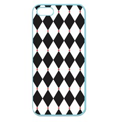 Plaid Triangle Line Wave Chevron Black White Red Beauty Argyle Apple Seamless Iphone 5 Case (color)