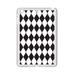 Plaid Triangle Line Wave Chevron Black White Red Beauty Argyle Ipad Mini 2 Enamel Coated Cases
