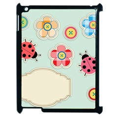 Buttons & Ladybugs Cute Apple Ipad 2 Case (black) by Simbadda