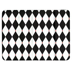 Plaid Triangle Line Wave Chevron Black White Red Beauty Argyle Samsung Galaxy Tab 7  P1000 Flip Case