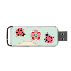 Buttons & Ladybugs Cute Portable Usb Flash (two Sides) by Simbadda