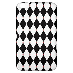 Plaid Triangle Line Wave Chevron Black White Red Beauty Argyle Samsung Galaxy Tab 3 (8 ) T3100 Hardshell Case  by Alisyart