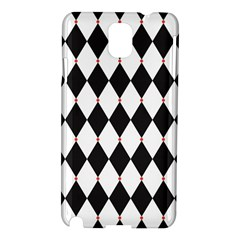Plaid Triangle Line Wave Chevron Black White Red Beauty Argyle Samsung Galaxy Note 3 N9005 Hardshell Case
