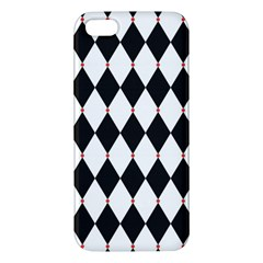 Plaid Triangle Line Wave Chevron Black White Red Beauty Argyle Iphone 5s/ Se Premium Hardshell Case by Alisyart