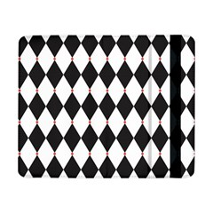Plaid Triangle Line Wave Chevron Black White Red Beauty Argyle Samsung Galaxy Tab Pro 8 4  Flip Case by Alisyart