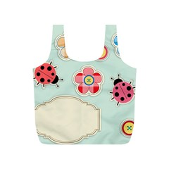 Buttons & Ladybugs Cute Full Print Recycle Bags (s)  by Simbadda
