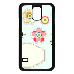 Buttons & Ladybugs Cute Samsung Galaxy S5 Case (black) by Simbadda