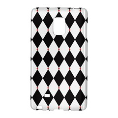 Plaid Triangle Line Wave Chevron Black White Red Beauty Argyle Galaxy Note Edge by Alisyart