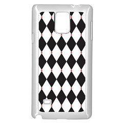 Plaid Triangle Line Wave Chevron Black White Red Beauty Argyle Samsung Galaxy Note 4 Case (white) by Alisyart