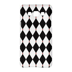 Plaid Triangle Line Wave Chevron Black White Red Beauty Argyle Samsung Galaxy A5 Hardshell Case  by Alisyart