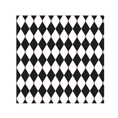 Plaid Triangle Line Wave Chevron Black White Red Beauty Argyle Small Satin Scarf (square) by Alisyart