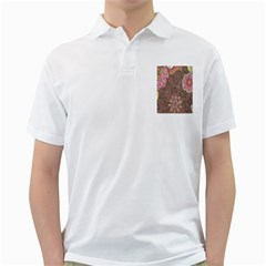 Ice Cream Flower Floral Rose Sunflower Leaf Star Brown Golf Shirts by Alisyart
