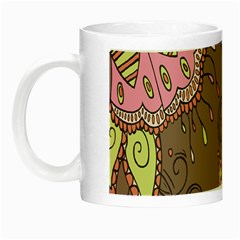 Ice Cream Flower Floral Rose Sunflower Leaf Star Brown Night Luminous Mugs by Alisyart