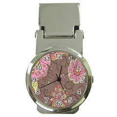Ice Cream Flower Floral Rose Sunflower Leaf Star Brown Money Clip Watches by Alisyart