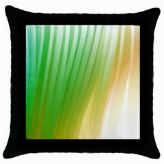 Folded Paint Texture Background Throw Pillow Case (black) by Simbadda